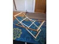 Mothercare Moses Basket Stand, non rocking. Unused. Folds away when not needed.