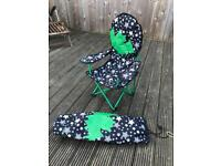 2 Children's folding camping chairs