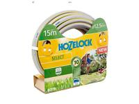 Grey 15m hozelock hose with nozzle