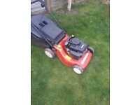 Petrol mower just been serviced