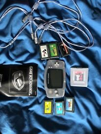 Game boy advance good condition all working, 7 games included, cable to connect to other consoles
