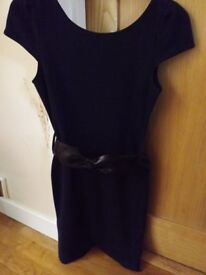 New Look Navy Belted Tunic Size 12