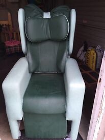 manual reclining chair, hardly used in excellent condition .. retails for £2000 selling for &250 ono