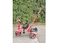 Tricycle with steering handle for 2 - 3 year old