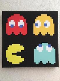 Pac mac canvas print