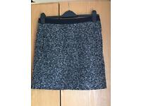 Next black and white skirt size 8