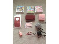 Nintendo ds i XL with 3 games. carry case and chargers