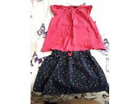 Skirt and top age 3-4