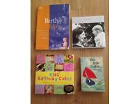 Selection of new baby and childcare books