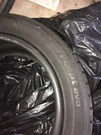 2 x Nearly new Hankook winter tyres 195/50R15 82H