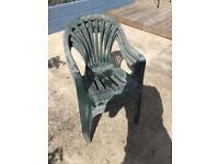 3 x plastic garden chairs