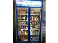 Pepsi drinks cooler - fridge - double door - good condition - for shop