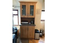 Kitchen cupboards and appliances cooker, fridge, Washing machine and microwave
