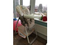 Highchair from birth with Bouncer Attachment and Toy Bar