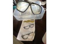 technisub snorkling goggles only used once still in original holder