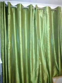 Ring top lined satin curtains 66/72inch drop