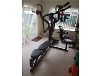 Powertec Workbench Multi System + Lat Tower Pulldown + Bicep Curl + Leg Curl Accessory Attachments
