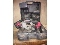 Bosch GKS24V plus 2 batteries