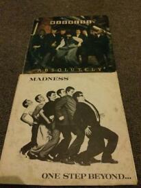 MADNESS 2 x VINYL RECORDS LPS ONE STEP BEYOND & ABSOLUTELY VERY GOOD CONDITION CAN POST