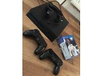 PS4, 2 controllers, headset and 6 games
