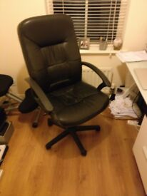 Free! Worn but comfortable leather chair