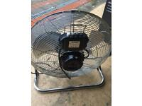 Two v efficient attractive Power fans ; 100w 3 speed . Built in handle