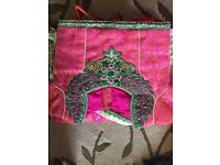 Asain girls pink lengha suit
