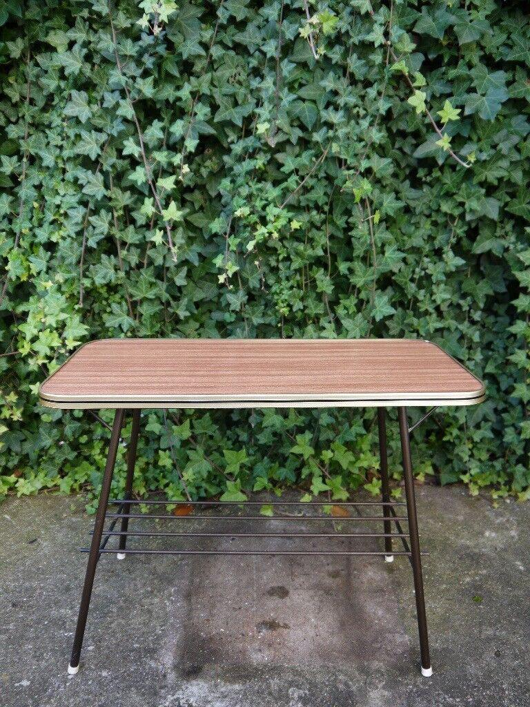 Genuine Mid Century Atomic Danish Design Coffee Side Table Stand Rack Vintage