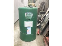 Copper vented hot water cylinder