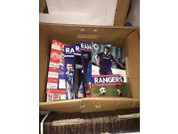 Rangers football programmes mixed x 82