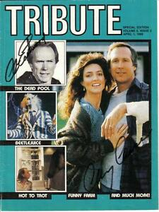 Eastwood,Chase and Keaton Autographed Tribute Magazine London Ontario image 1