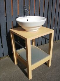 Bowl Sink, Tap & Stand