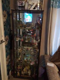 Walnut Glass Cabinet
