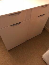 White gloss sideboard