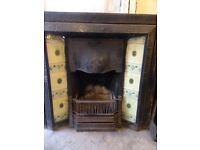 Victorian fireplace insert
