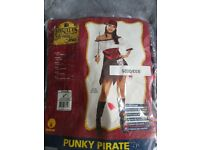 Women's pirate fancy dress fits up to size 12