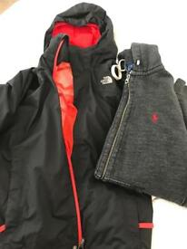 North Face Rain Jacket and Ralph Lauren Jumper