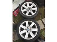 """2x BMW alloys Wheel 17"""" tyre"""