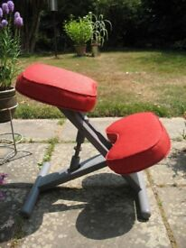 Attractive kneeling posture stool with new upholstery