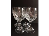 Crystal Cognac/Liqueur Glasses x 4