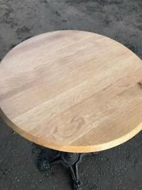 Bar table cast iron oak