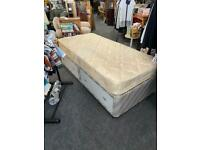 Single bed with mattress and single divan