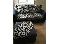 3 Seat Sofa and 4 Seat Corner Sofa and footstool