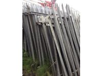 Quantity of 8 Foot and 6 foot Security Fencing + some posts
