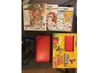 Nintendo 3ds XL red special edition + games