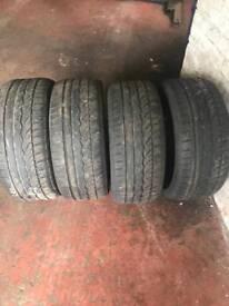 4 Pre worn Dunlop Sport Tyres. 245 / 40 / 19