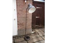 Light brass standard lamp