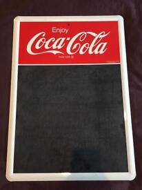 Vintage/Retro 1991 Coca Cola Metal Chalk Board