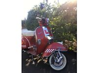 Red LML125 Dexluxe Vespa for sale Immaculate condition, full M.O.T, four gears, two stroke