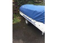 Camping trailer excellent condition no leaks or tears kitchen all working easy to tow